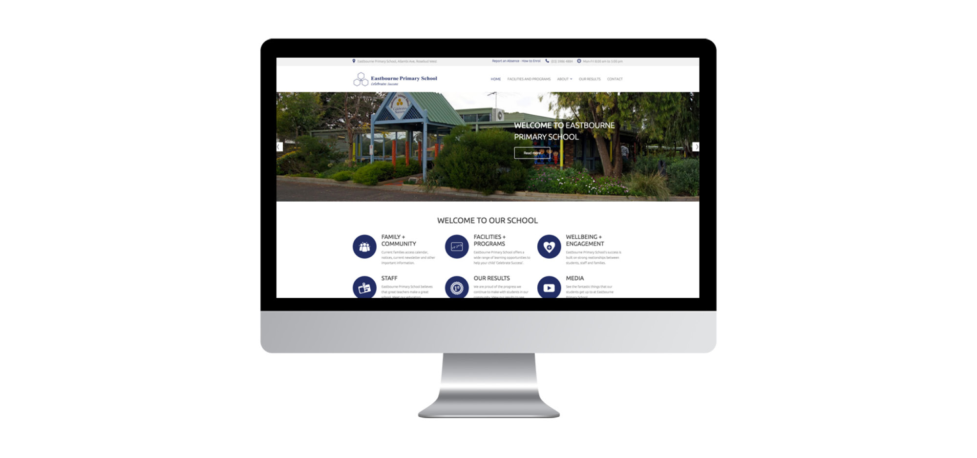 website design rosebud eastbourne primary school