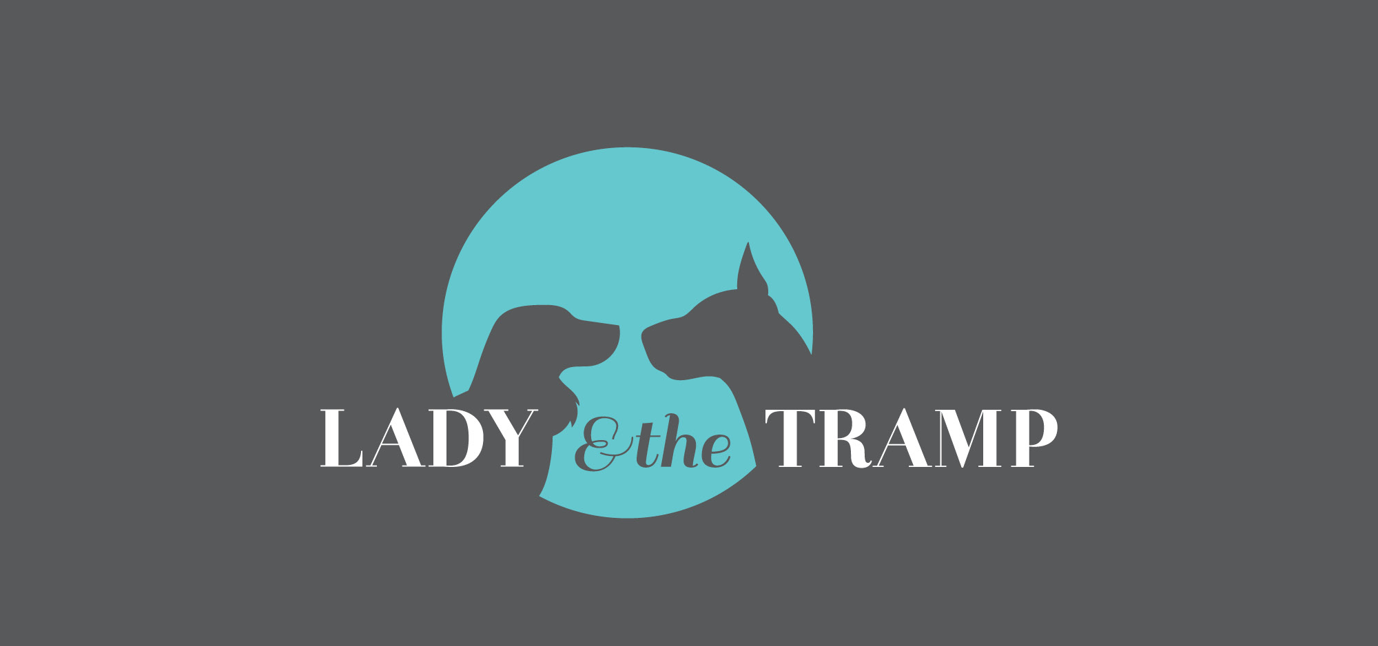 Lady & the Tramp silhouette logo design