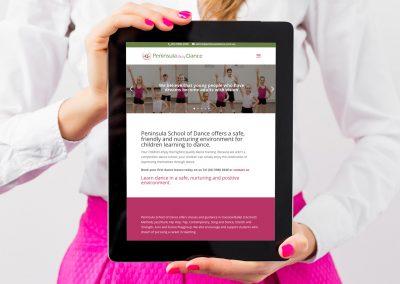Peninsula School of Dance Website Design