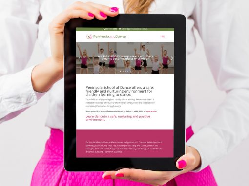 Peninsula School of Dance Website Design