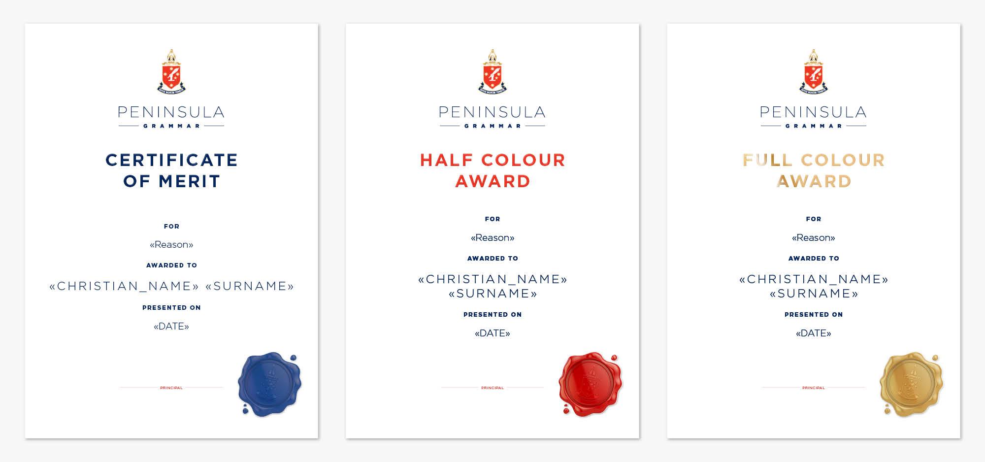Graphic Design Work for Peninsula Grammar