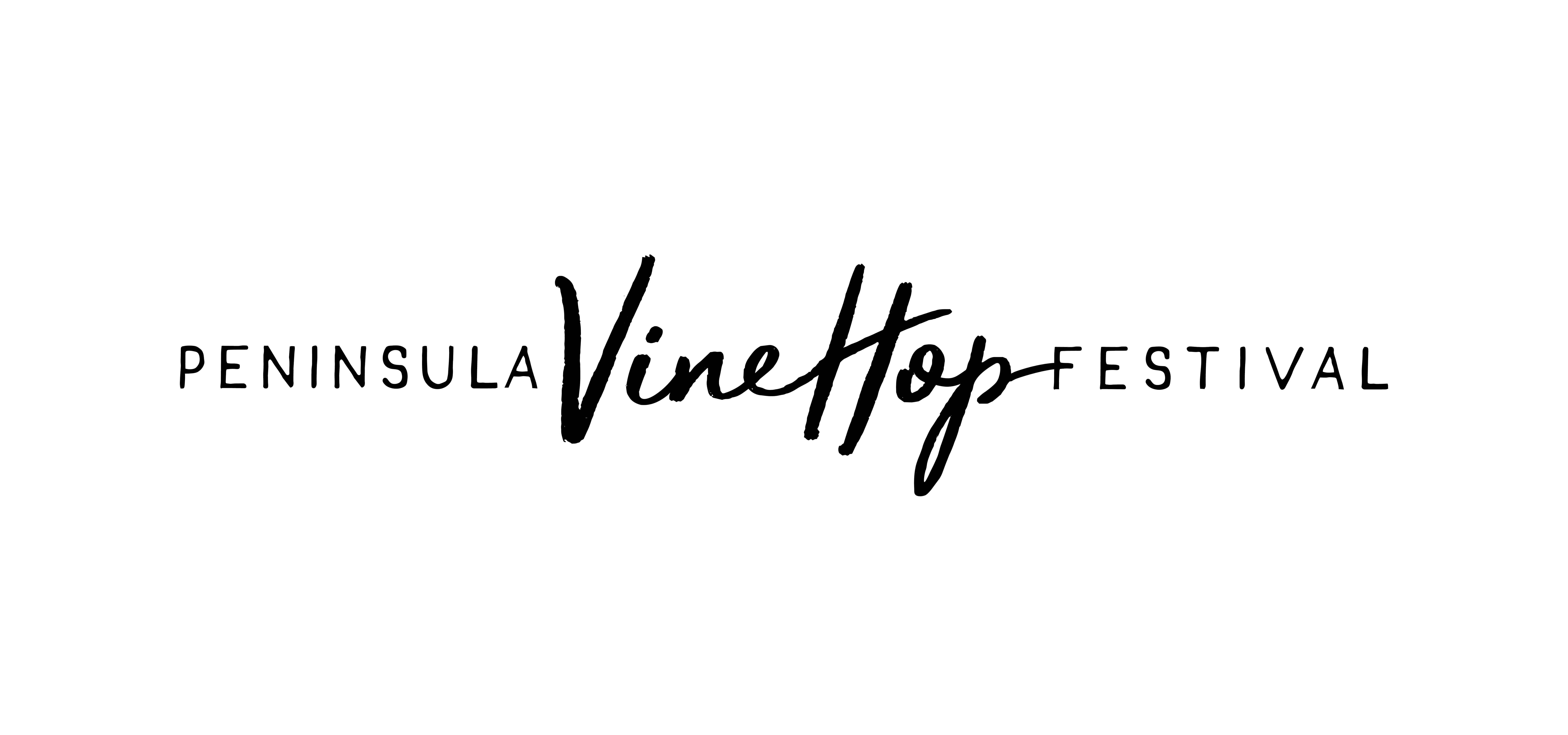 black on white logo design, Mornington Peninsula VineHope Festival