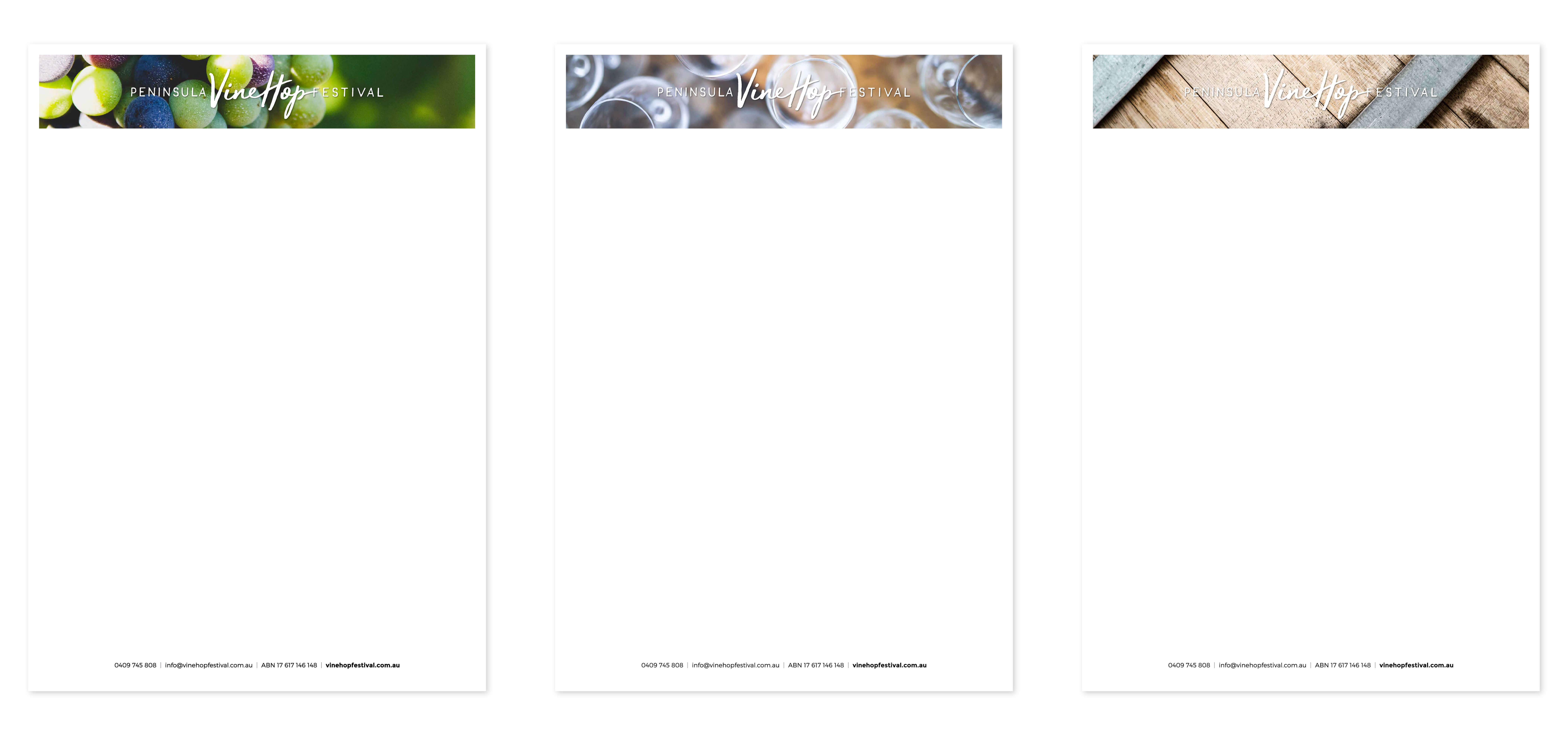VineHop Mornington Peninsula Letterhead Design