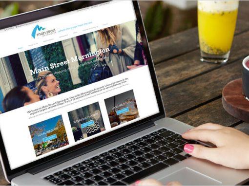 Main Street Mornington Website Design