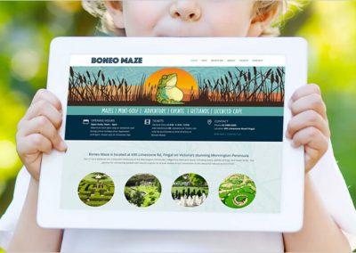 Boneo Maze Website Design
