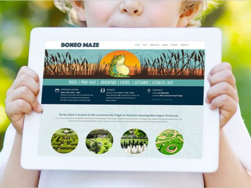 Boneo Maze Website Design