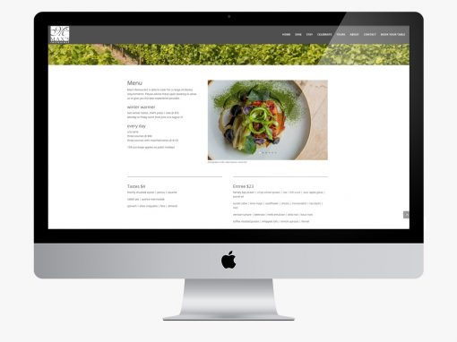 Max's Restaurant Website Portfolio